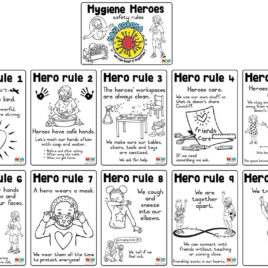 Hygiene Heroes safety rules English