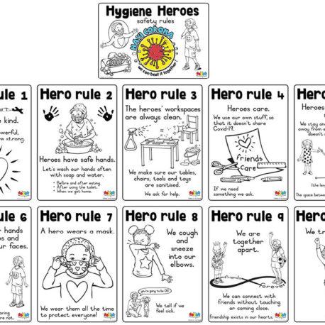 ©hero-in-my-hood.co.za Hygiene Hero rules English single page
