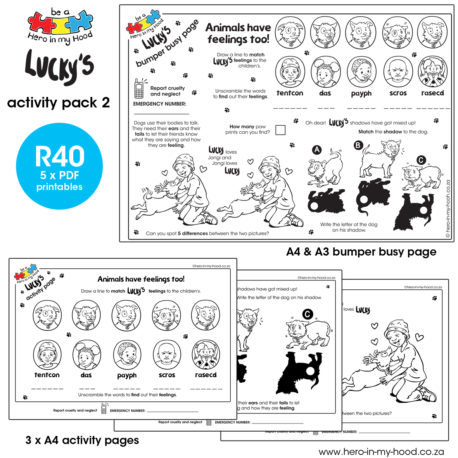 ©hero-in-my-hood.co.za Lucky's activity pack 2