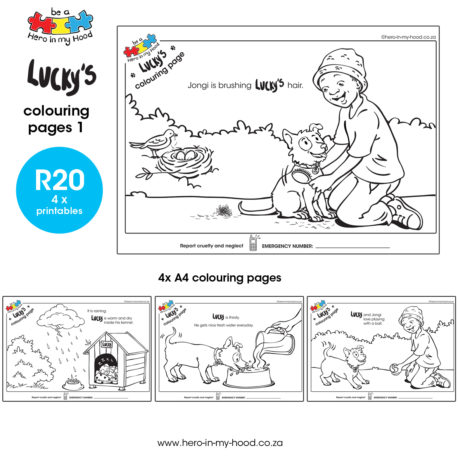 ©hero-in-my-hood.co.za Lucky's colouring pages 1