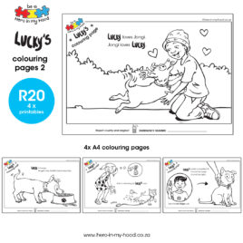 Lucky's colouring pages 2 English
