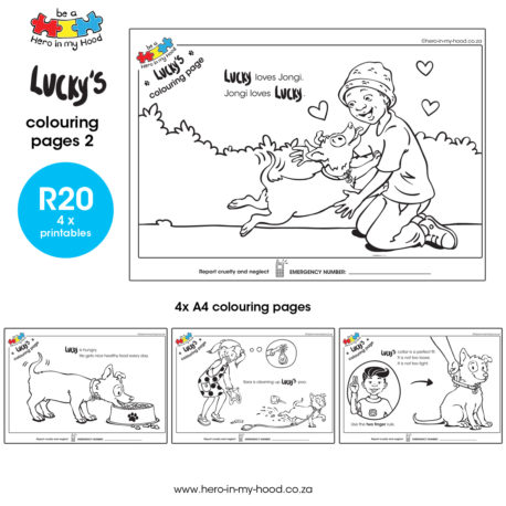 ©hero-in-my-hood.co.za Lucky's colouring pages 2