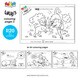 Lucky's colouring pages 3 English