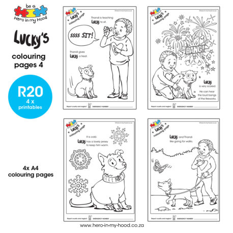 ©hero-in-my-hood.co.za Lucky's colouring pages 4