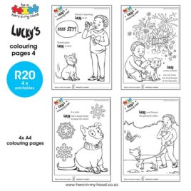 Lucky's colouring pages 4 English